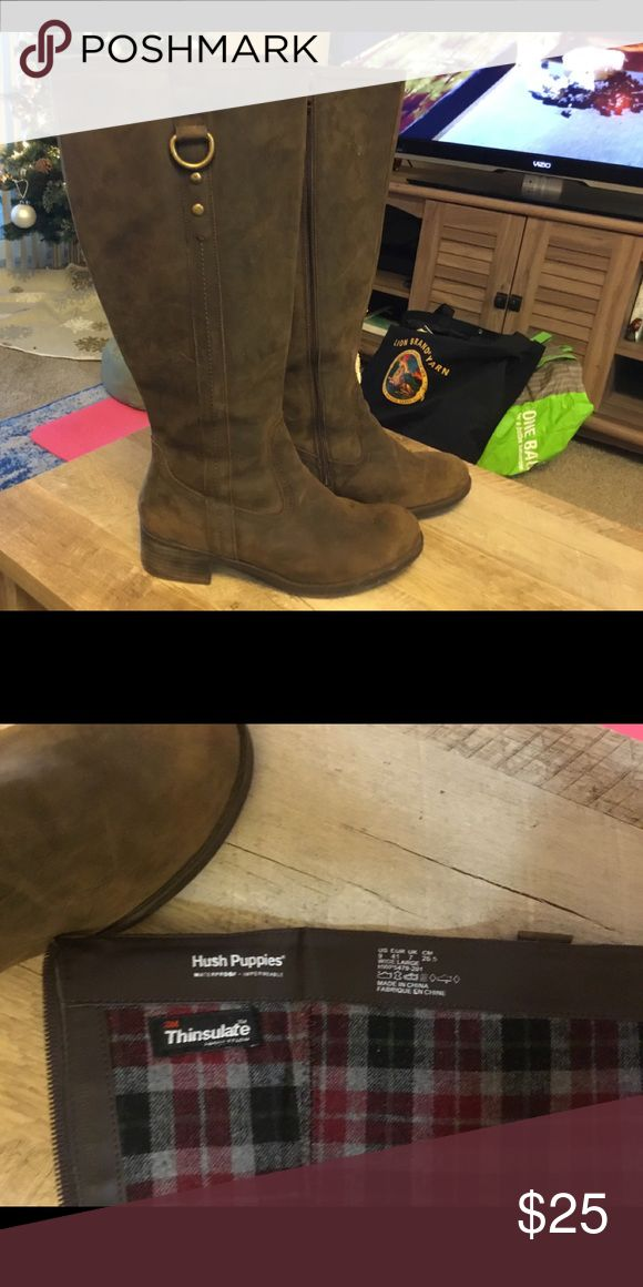 Hush Puppies Boots Brown hush puppy boots, great condition. Hush Puppies Shoes Heeled Boots