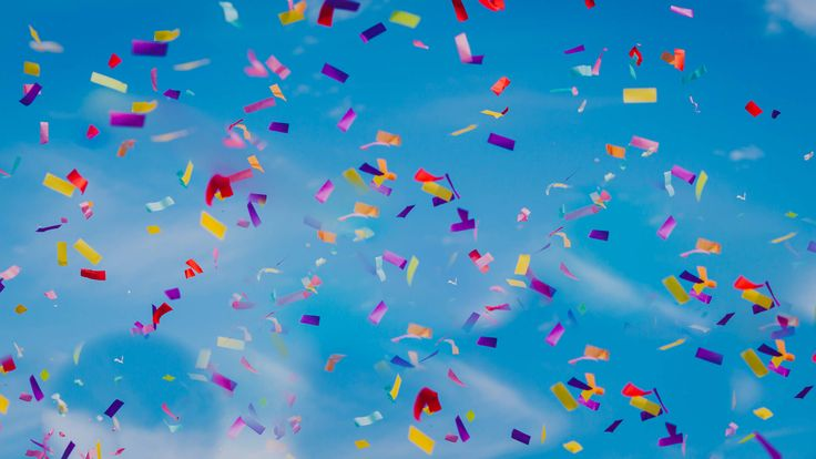 Confetti!!!!!!!! Photo by Benjamin Stuart Photography #weddingphotography #confetti #bluesky #confetticanon #party
