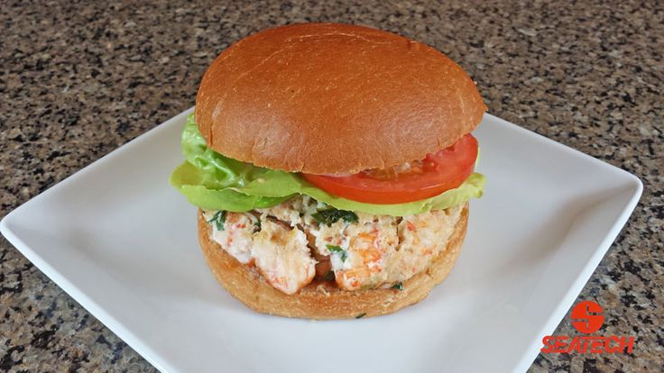 Langostino Lobster Burger With Chipotle Mayo Recipe | seafood | Pinterest | Chipotle, Chipotle ...