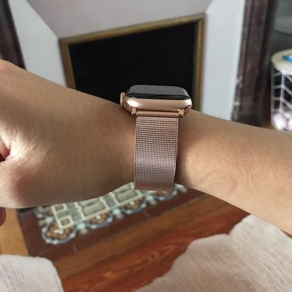 Apple Watch Band Milanese Mesh Sleek Loop Steel Watchband W Buckle 6 5 Apple Watch Bands Rose Gold Apple Watch Fashion Rose Gold Apple Watch