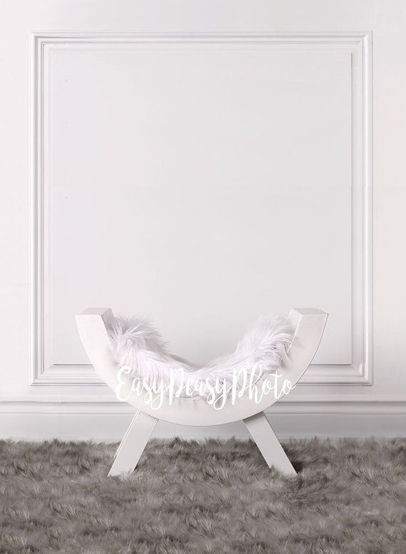 Digital prop backdrop curved bench with faux fur hardwood floor photography background for newborn baby download prop backdrop background