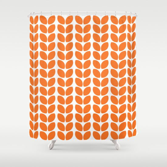 leaves+-+orange+Shower+Curtain+by+Her+Art+-+$68.00