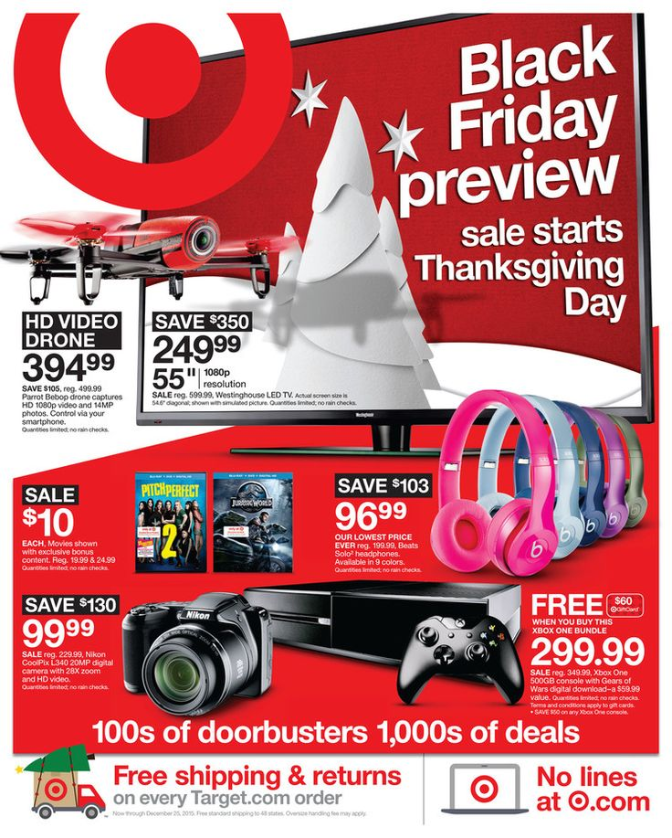 See the Target Black Friday ad 2015 here! Plus get the best Target Black Friday deals, sales, sale info and more Black Friday ads at BlackFriday.fm.  See the ad here: https://www.blackfriday.fm/adscan/target