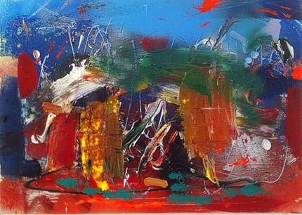 Provence Alps 1  Mixed media on canvas  30x40cm  240€