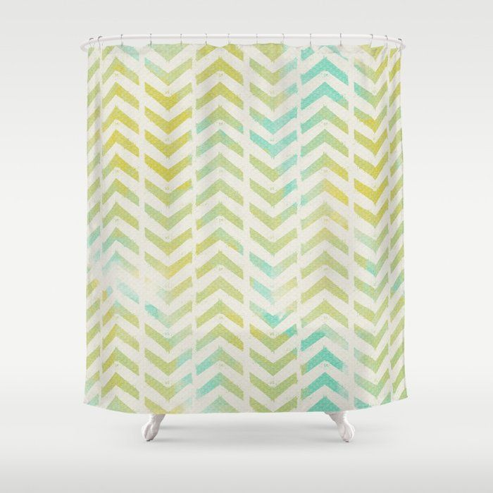 Green And Blue Arrows Shower Curtain By Allyjcat Society6 With