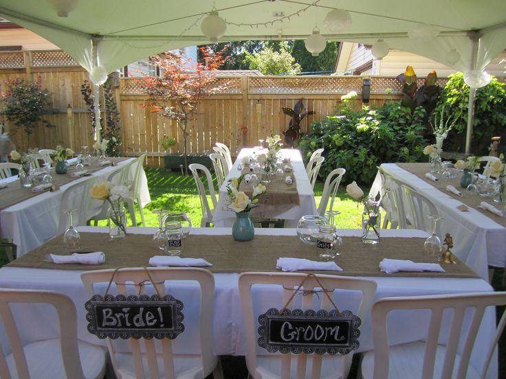 small backyard wedding best photos - backyard wedding - cuteweddingideas.com More