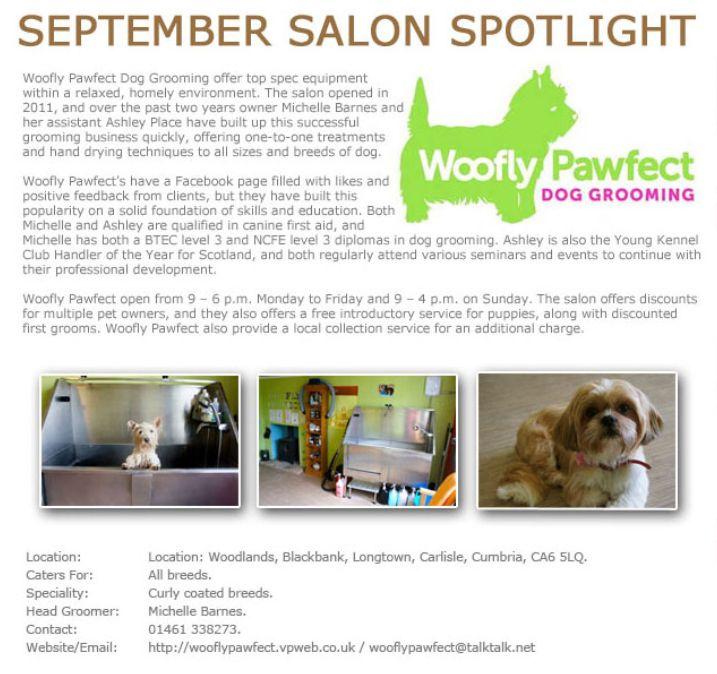 Salon Spotlight September 2014, Woofly Pawfect