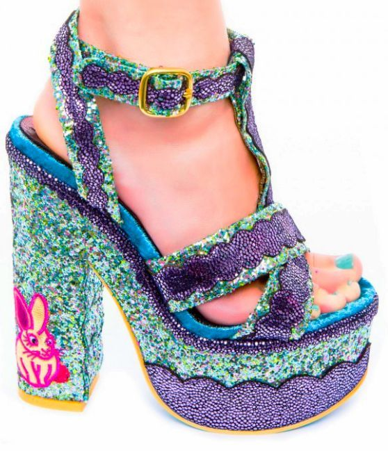 Stand Out with These Sparkly Platform Shoes #summershoes #sandals trendhunter.com
