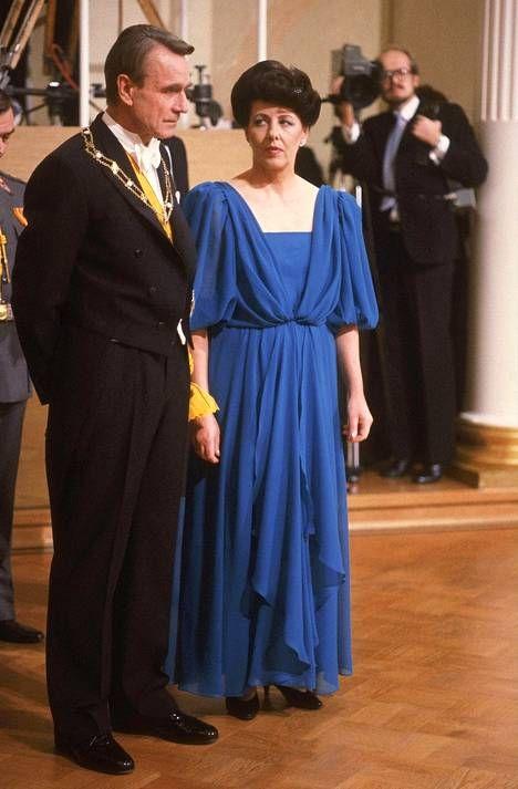 Presidentti Mauno Koivisto ja rouva Tellervo Koivisto itsenäisyyspäivänä 1983.