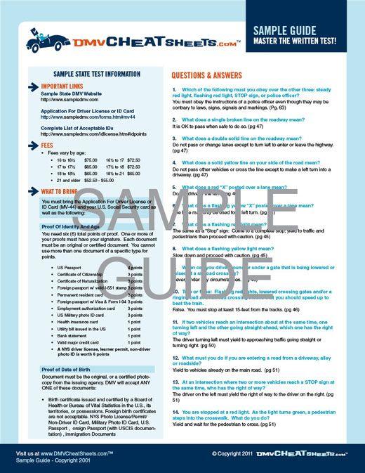 Are you studying for the California DMV Auto Written Test? -- DMVCheatSheets.com