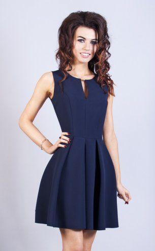 Granatowa sukienka Model:ST-1755