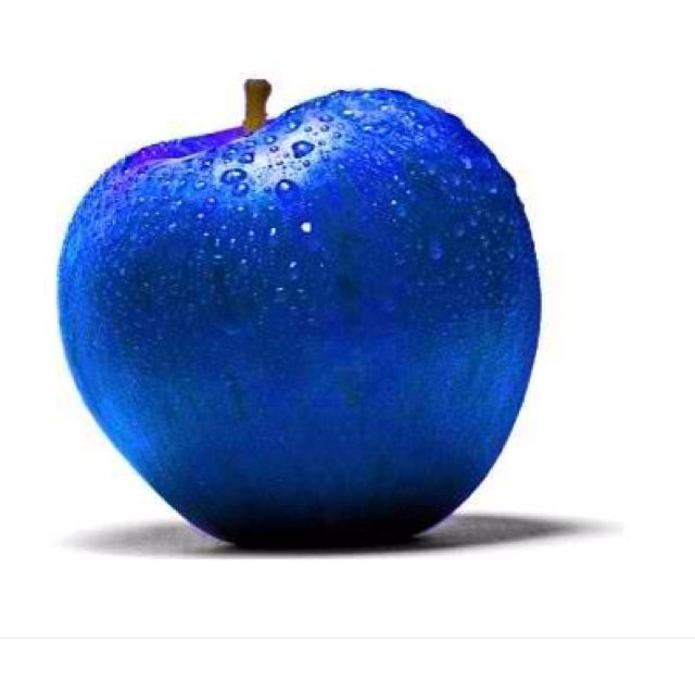 Royal Blue.  Eat this apple.  #blue #apple