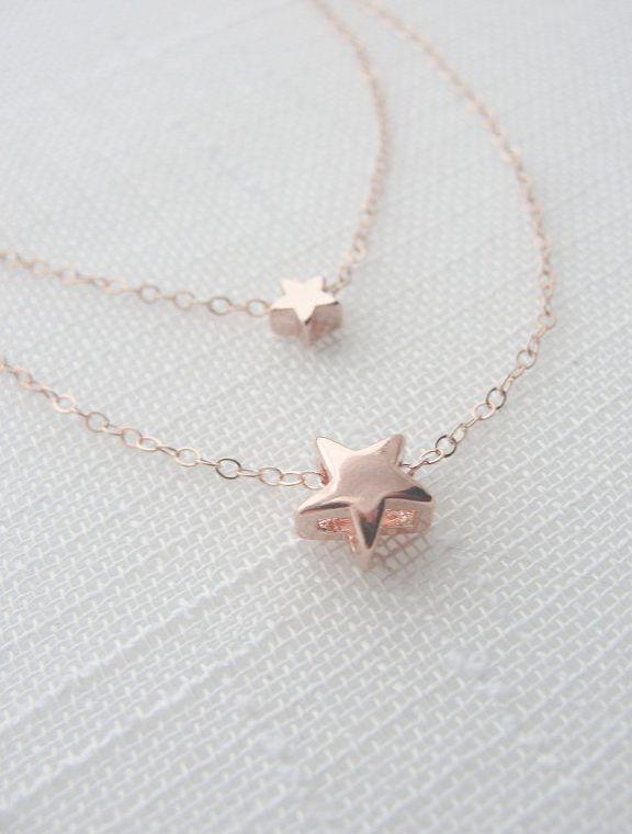 Rose Gold Belcher Necklace Australia Below Jewellery Box Osrs Over Gold Jewellery Online Usa Yet Rose Gold Necklace Ch Star Necklace Gold Star Necklace Jewelry