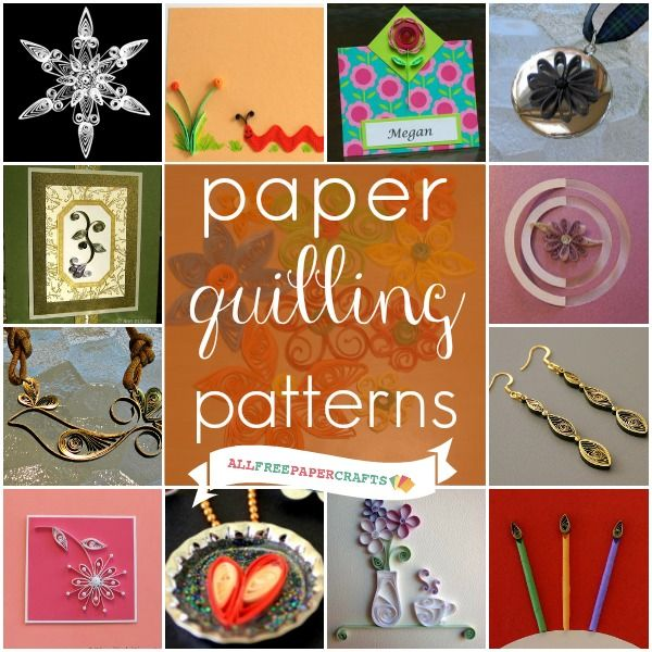 Learn how to quill paper with this collection of 15 paper quilling patterns! Make beautiful paper crafts and paper art with quilling tutorials and ideas.