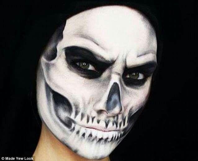 191 besten skull makeup bilder auf pinterest halloween ideen halloween kost m und. Black Bedroom Furniture Sets. Home Design Ideas