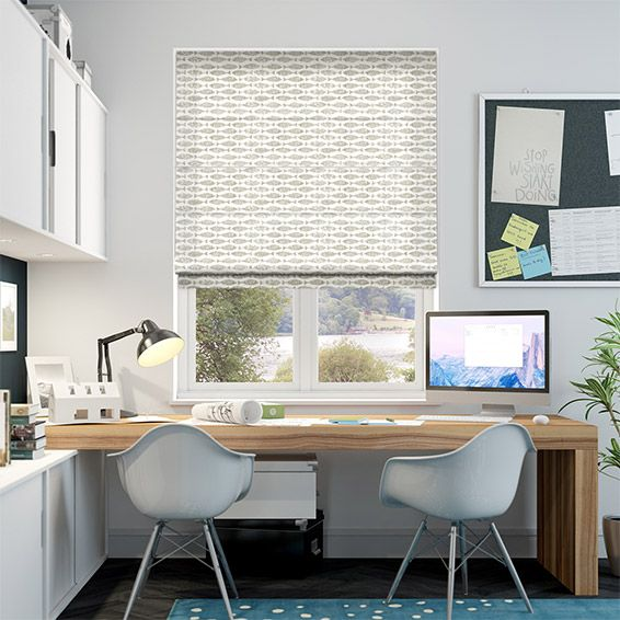 The Samaki Neutral roman blind is a fishy little number, but this design certainly doesn't stink. The calming colourway matched with the quirky marine design makes for a cute window dressing.