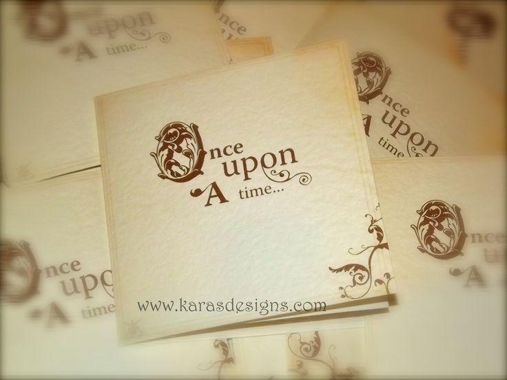 Folded Wedding invites once upon a time fairytale themed wedding invites karasdesigns.com