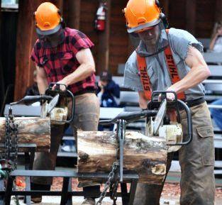 The Great Alaskan Lumberjack Show in Ketchikan Alaska is amazing - so much fun!!