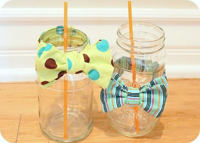 Bow Tie On Jars. Find This Pin And More On Baby Shower Ideas ...