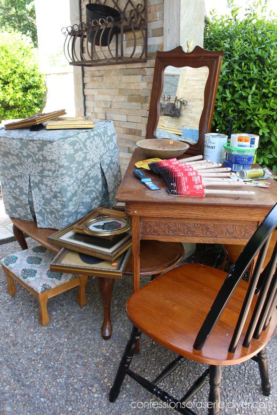 25 best ideas about folding sewing table on pinterest for Furniture yard sale