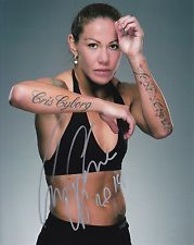 Chris Cyborg autograph / auto / signed 8x10 photo UFC COA