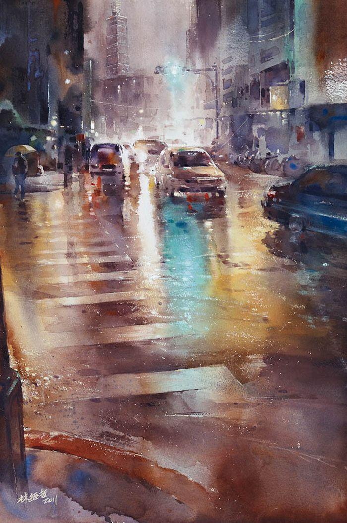 Rainy aquarelle Lin Ching-Che