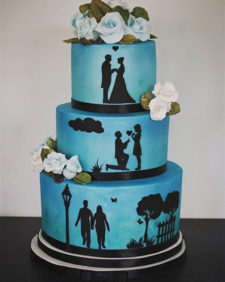 47++ Wedding cake silhouette stencils ideas