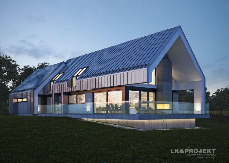 LK&1302 - dom w stylu nowoczesnej stodoły    http://lk-projekt.pl/lkand1302-produkt-9625.html