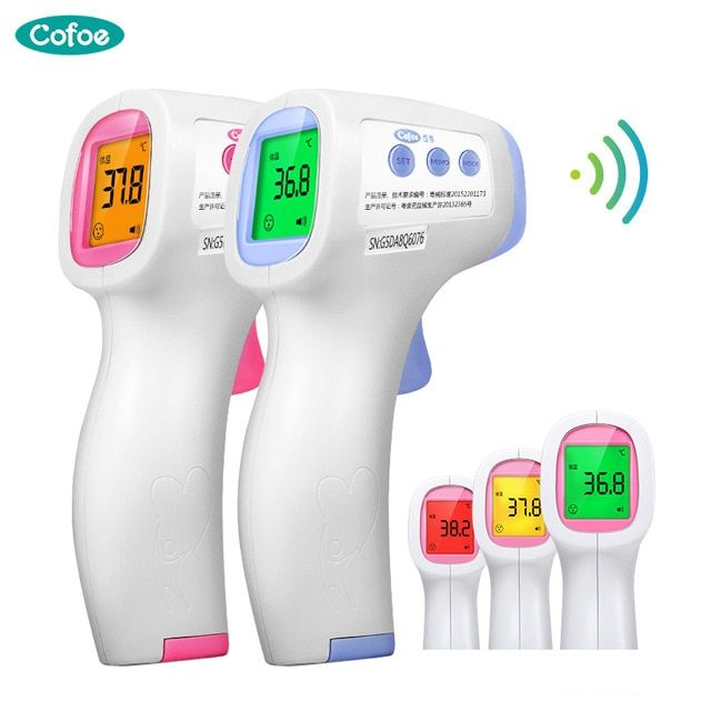 Digital IR Infrared Thermometer Non-Contact Baby Body Forehead Ear Temperature C