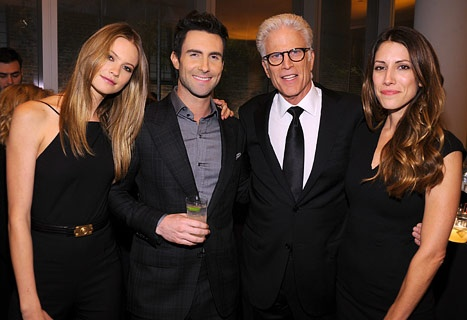 Behati Prinsloo, Adam Levine, Ted Danson and Kate Danson attend the 2012 GQ Gentlemen's Ball presented by LG, Movado, and Nautica on October 24, 2012 in New York City.