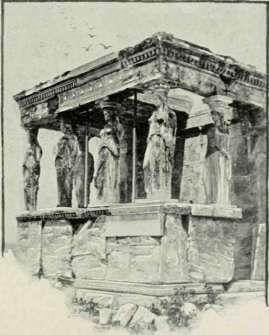 The Caryatides Of The Erectheum.