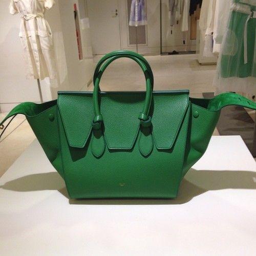 Celine Tie green grass bag. Just in ! | Bag n bag | Pinterest ...