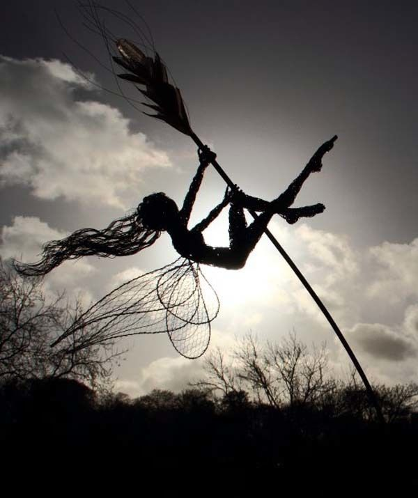 fantasy wire sculptures | Incredible Fairy Wire Sculptures Turn Any Backyard Into A Magical ...