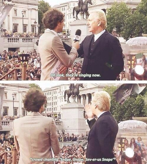 Alan Rickman. This is why I love our fandom.