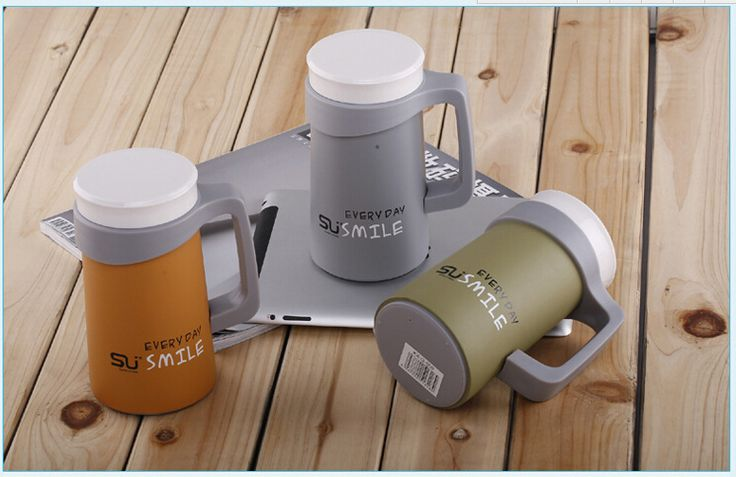 2016 New Thermo Mug 500ml Double Layer Deck Car Thermos Coffee Mug Cup 304 Stainless Steel Insulation Vacuum Cute Thermos Flask