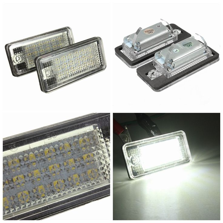 18 LED License Number Plate Light Lamp For Audi A3 A4 A6 A8 B6 B7 S3 Q7 RS4 RS6. Specification:    voltage: 13.5v  18 Led  item Size: About 7cm(l) X 3.2cm(w)  package Size: About 11cm(l) X 6.6cm(w) X 4.5cm(h)  car Model:  for Audi  a3/s3 04'~12' / A3 Cabriolet 08'~09'  a4/s4 B6 (8e/8h) 01'~05'  a4/s4 B7 (8e/8h) 05'~08'  a6/c6 (4f) 05' 09'/s6 05'~09'  a8/s8 D3 (4e) 03'~07'  q7 07'~09'  rs4/avant Quattro 06'~08'  rs4 Carbriolet 06'~08'  rs6 Plus/avant 08'~09'    features:    - Perfect Fit…