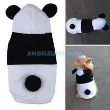 Cute Pet Dog Puppy Cat Fleece Panda Hoody Clothes Pullover Coat Costume Apparel