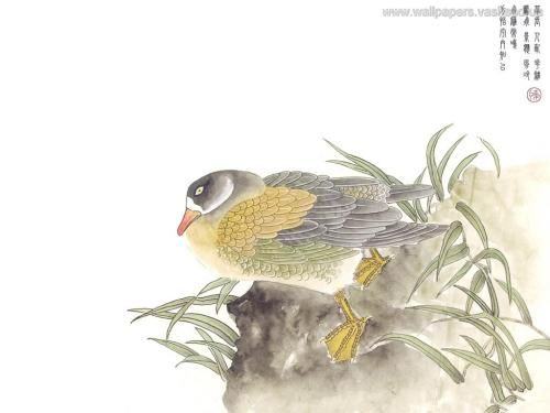 Chinees schilderij - achtergronden, #3536