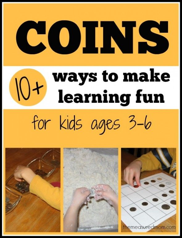 make learning fun with coins the measured mom Coin activities for preschool, kindergarten, and first grade