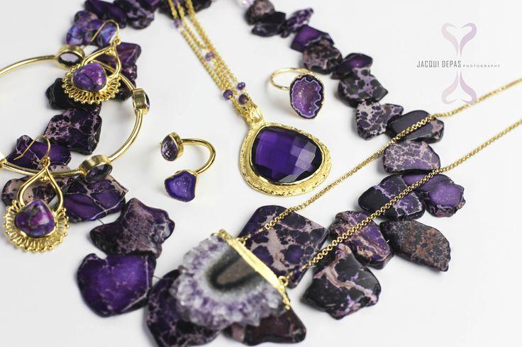 ADMK jewelry shoot.  all purple