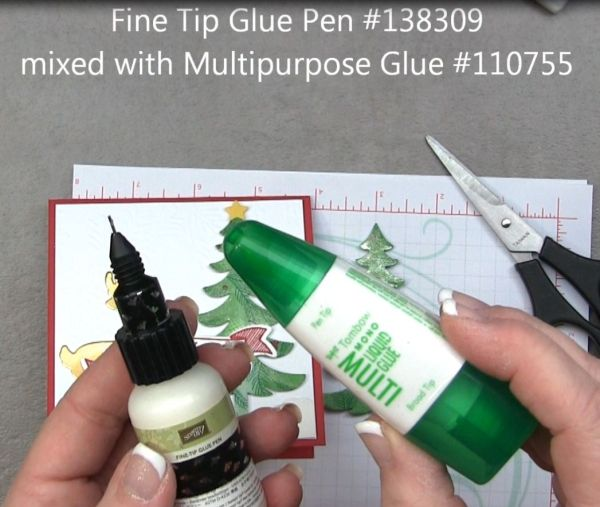 Craft tip:  mis Fine tip glue and monoadhesive glue in the fine tip glue pen applicator for the perfect crafting glue!