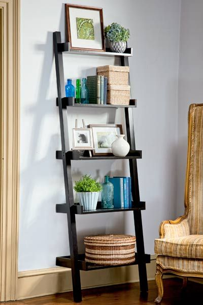 25 best ideas about ladder shelf decor on pinterest - Minimalist images of bookshelves with ladder for home interior decoration ...