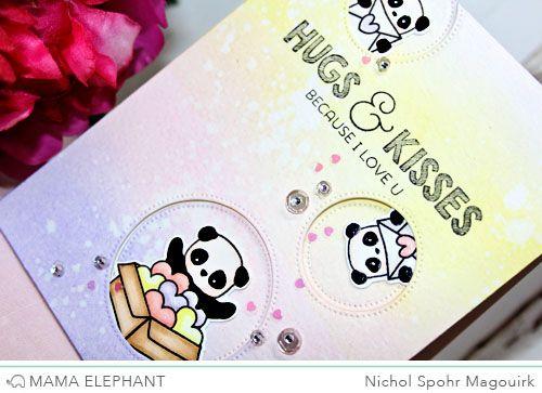 "Nichol Spohr Magouirk: Mama Elephant Designer Series | Incoming Mail ""Hugs & Kisses"" Card"
