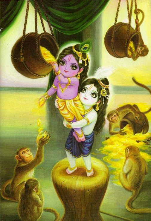 KRishna and Balarama steels butter
