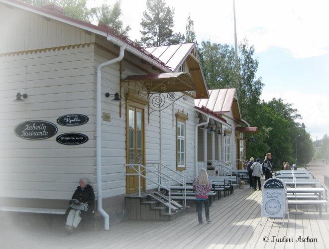 Cafe in Lahti harbour: Kariranta. Nice place!