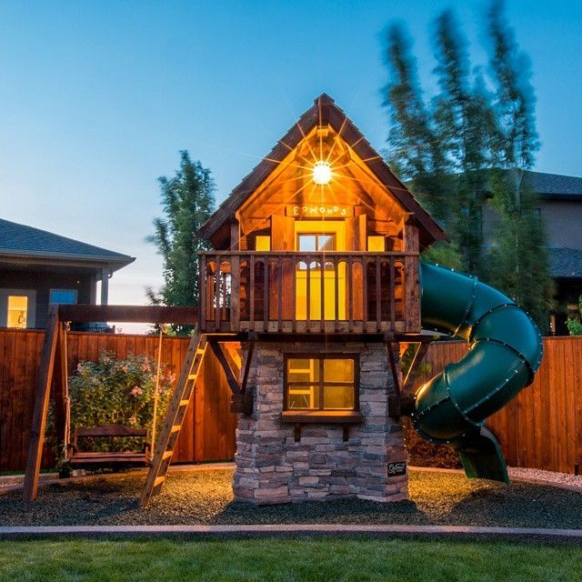 This dad makes luxury playhouses straight out of every kid for Big kid playhouse