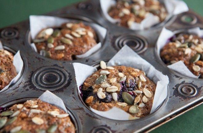 muffin sani con purea di mele e banana