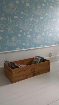 Dragon Sky Wallpaper in light blue from Majvillan, available at Bimbily