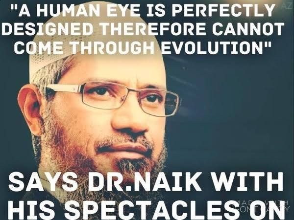 This is perfect! There are systems in his body that are extremely complex arrangements of complex systems, but people had to invent glasses to see perfectly.