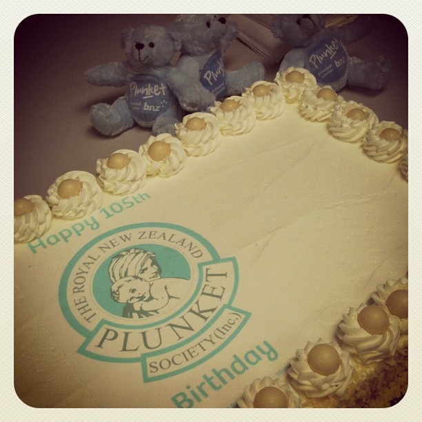 Celebrating our 105th anniversary with a delicious birthday cake!